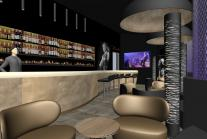 Rockcafe-Bar & Lounge, Neubau, Innenarchitektur und Lichtdesign, Gastrodesign