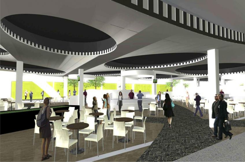 Planung Food court und Planung Food hall Shopping Center, Shopdesign und Ladendesign mit KASEL Innenarchitekten