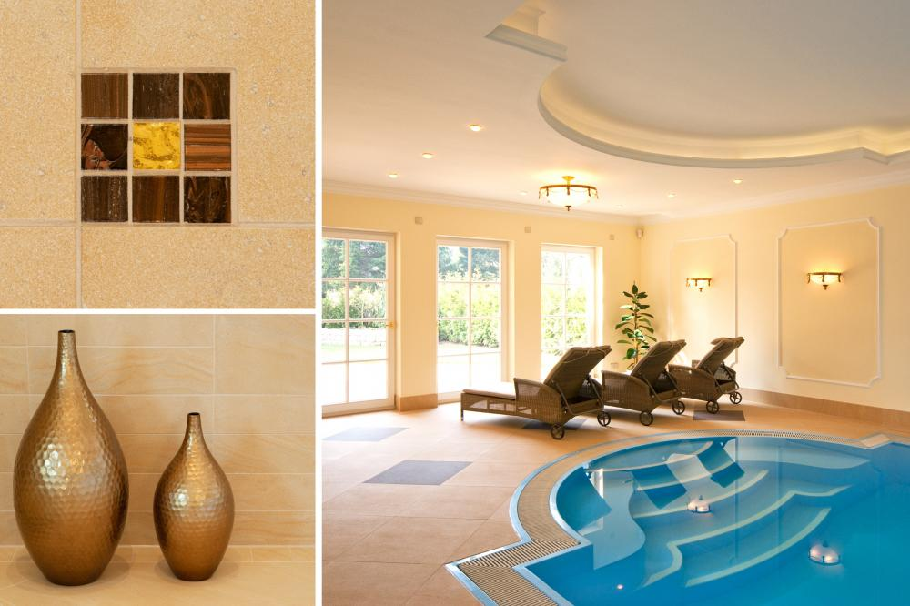 Einrichtung Wellnessbereich Pool und Spa Villa Leipzig, Wellnesseinrichtungen, Wellness Design, Innenarchitektur Wellness, Einrichtung Spa, KASEL Innenarchitekten